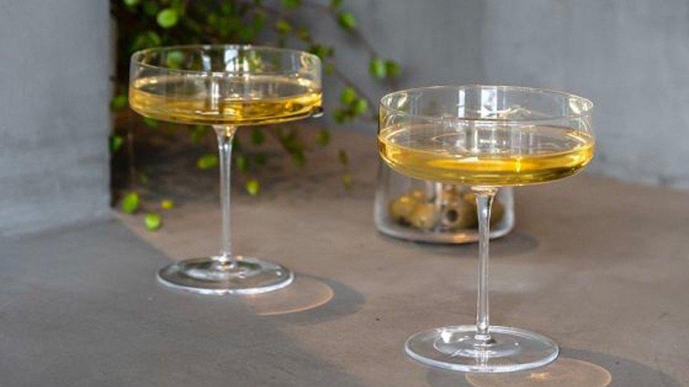 Klikk på bildet for å forstørre. champagneskål