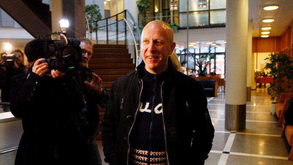 Klikk på bildet for å forstørre. OSLO 20080214: Stein Hoff før forklaringen i rettssaken mot tidligere Lyn-direktør Morgan Andersen i Oslo tingrett torsdag.