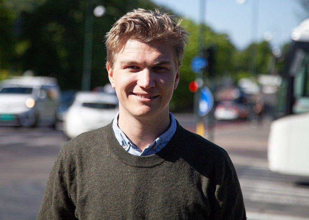Klikk på bildet for å forstørre. Bystyrerepresentant Nicolai Øyen Langfeldt sitter i Oslopakke 3-forhandlingene for Oslo Høyre.