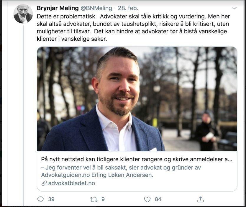 Klikk på bildet for å forstørre. HARDT UT: Brynjar Meling gikk omgående hardt ut mot den nye tjenesten.