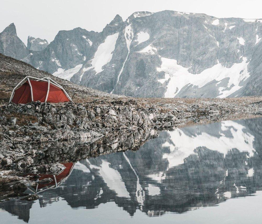 Klikk på bildet for å forstørre. Det er viktig med telt som tåler sterk vind når du overnatter i den norske fjellheimen.