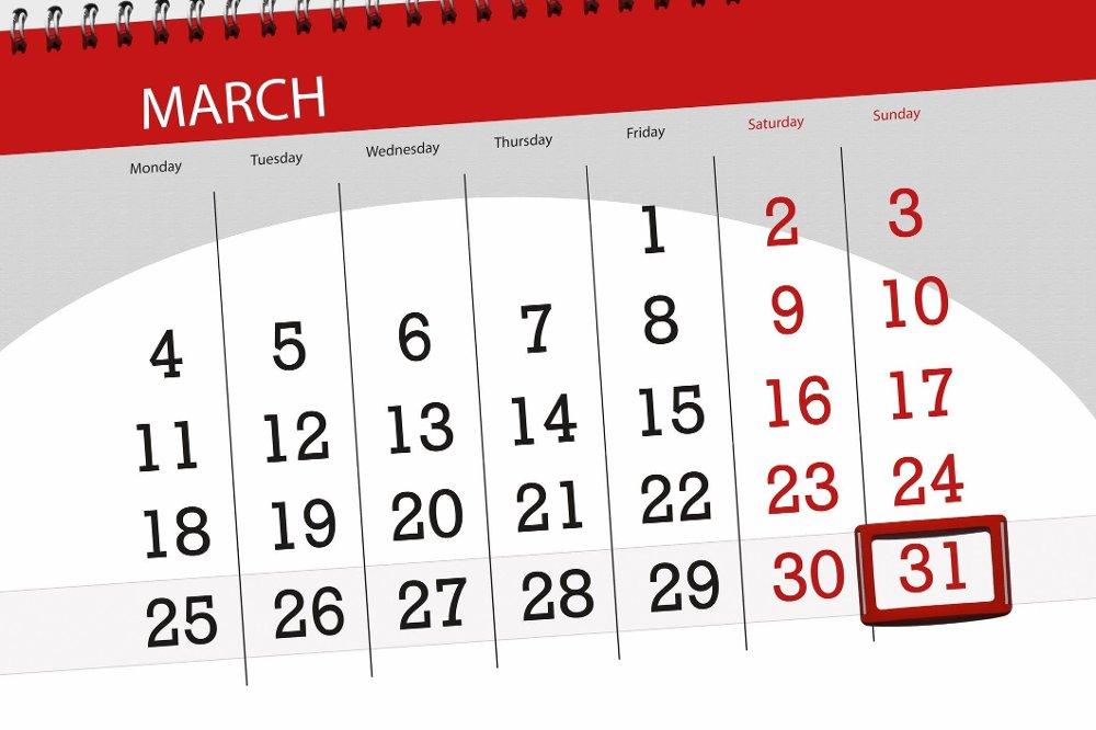 Klikk på bildet for å forstørre. Så vidt oss bekjent er det ingen måneder med over 31 dager.