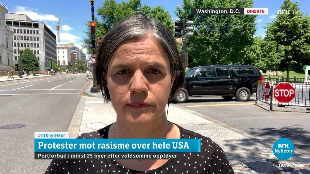 Klikk på bildet for å forstørre. KORRESPONDENT: Tove Bjørgaas rapporterer fra opptøyene i USA.