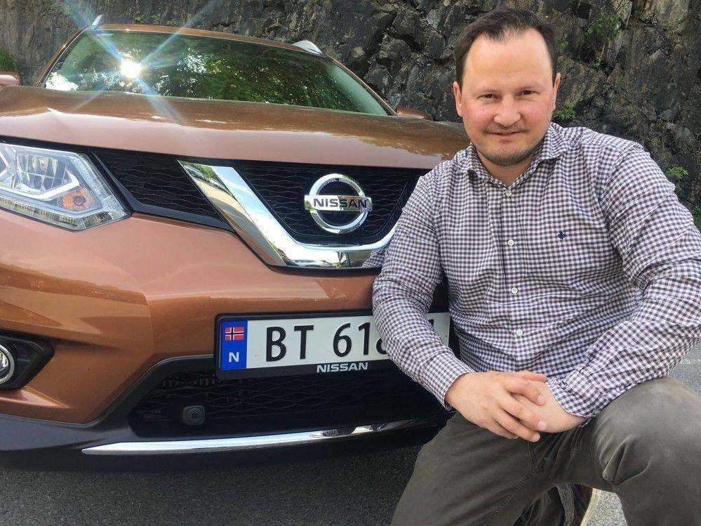 Klikk på bildet for å forstørre. Knut Arne Marcussen er kommunikasjonssjef for Nissan i Norge.