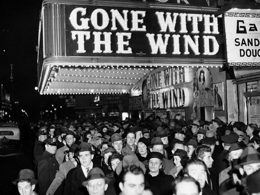 Klikk på bildet for å forstørre. Filmen satte kinorekord da den kom ut i 1939.