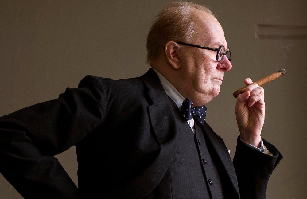 Klikk på bildet for å forstørre. Gary Oldman som Winston Churchill i Darkest Hour.