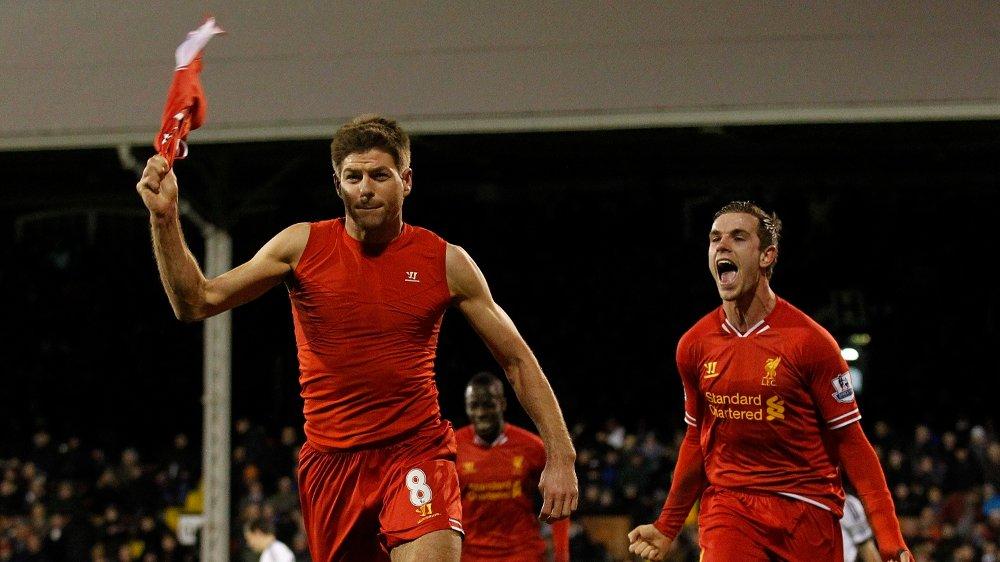 Klikk på bildet for å forstørre. LAGKAMERATER: Gerrard og Henderson spilte sammen i fire år fra 2011.