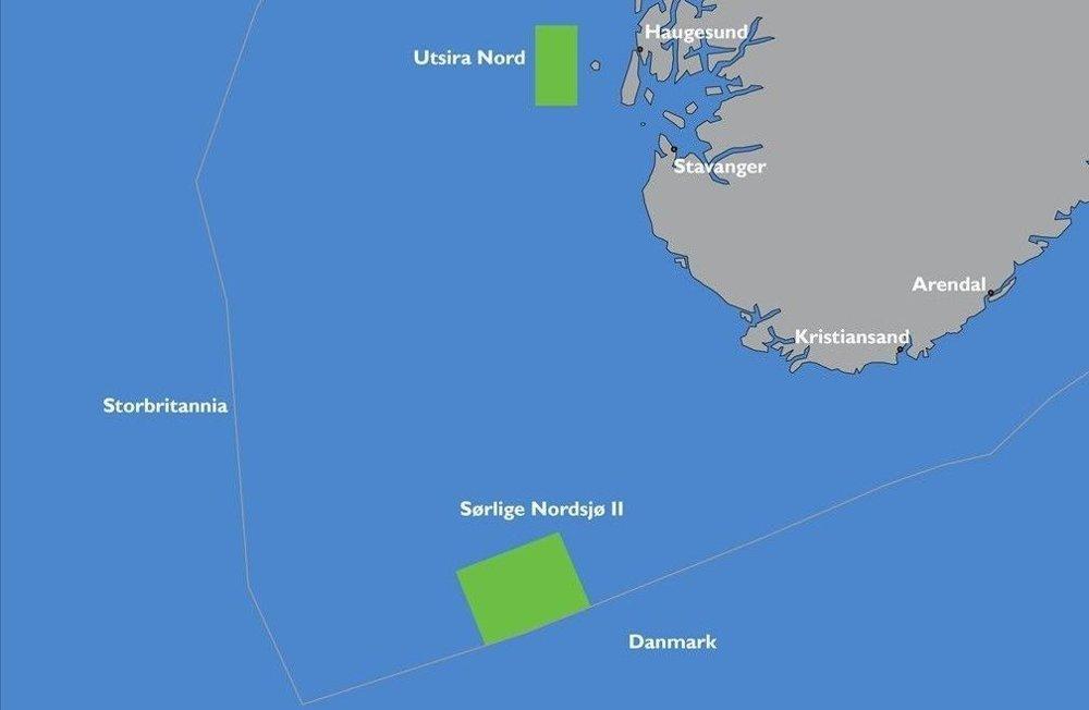 Klikk på bildet for å forstørre. Mens området Utsira Nord er best egnet for flytende havvind, ligger Sørlige Nordsjø II i et område der bunnfaste vindparker er mulig og der kraften som produseres kan eksporteres til Europa.
