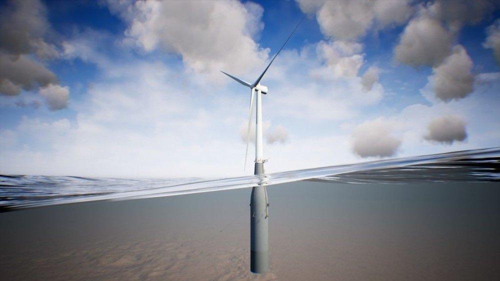 Klikk på bildet for å forstørre. FLYTENDE: I motsetning til på bunnfaste installasjoner, vil turbinene på for eksempel Hywind Tampen stå på et flytende fundament.