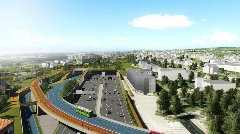 Klikk på bildet for å forstørre. VIKTIG: OBOS-sjefen mener det er viktig for hele regionen at den nye motorveien bygges. Ill.: Statens Vegvesen