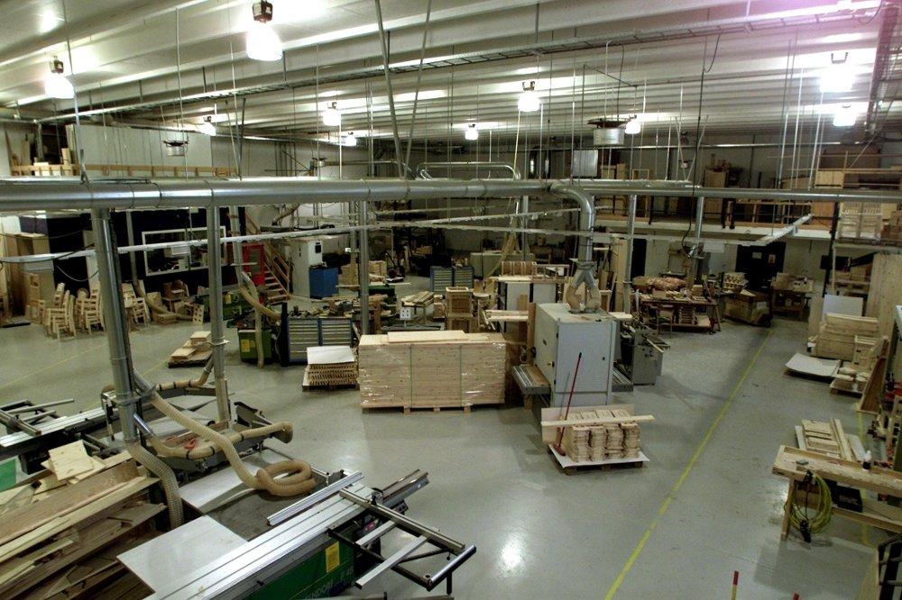 Klikk på bildet for å forstørre. Verkstedshallen i Ringerike fengsel.