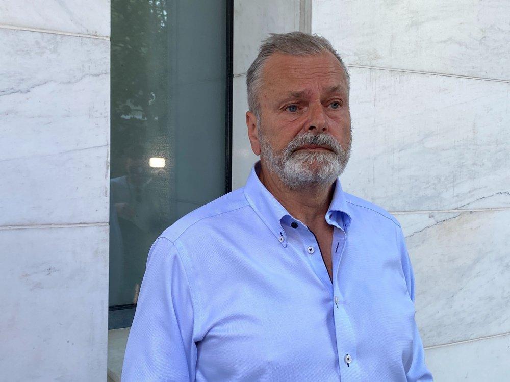 Klikk på bildet for å forstørre. Den tidligere politimannen Eirik Jensen før domsavsigelse i Borgarting lagmannsrett i saken mot ham selv og Gjermund Cappelen.