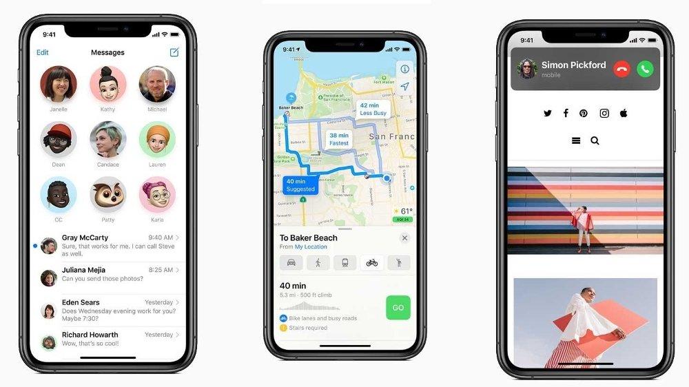 Klikk på bildet for å forstørre. iOS 14 på iPhone introduserer blant annet en bilde-i-bilde-funksjon som lar en video flyte på toppen av andre apper mens du ser på video. Meldinger og Kart får også nye funksjoner.