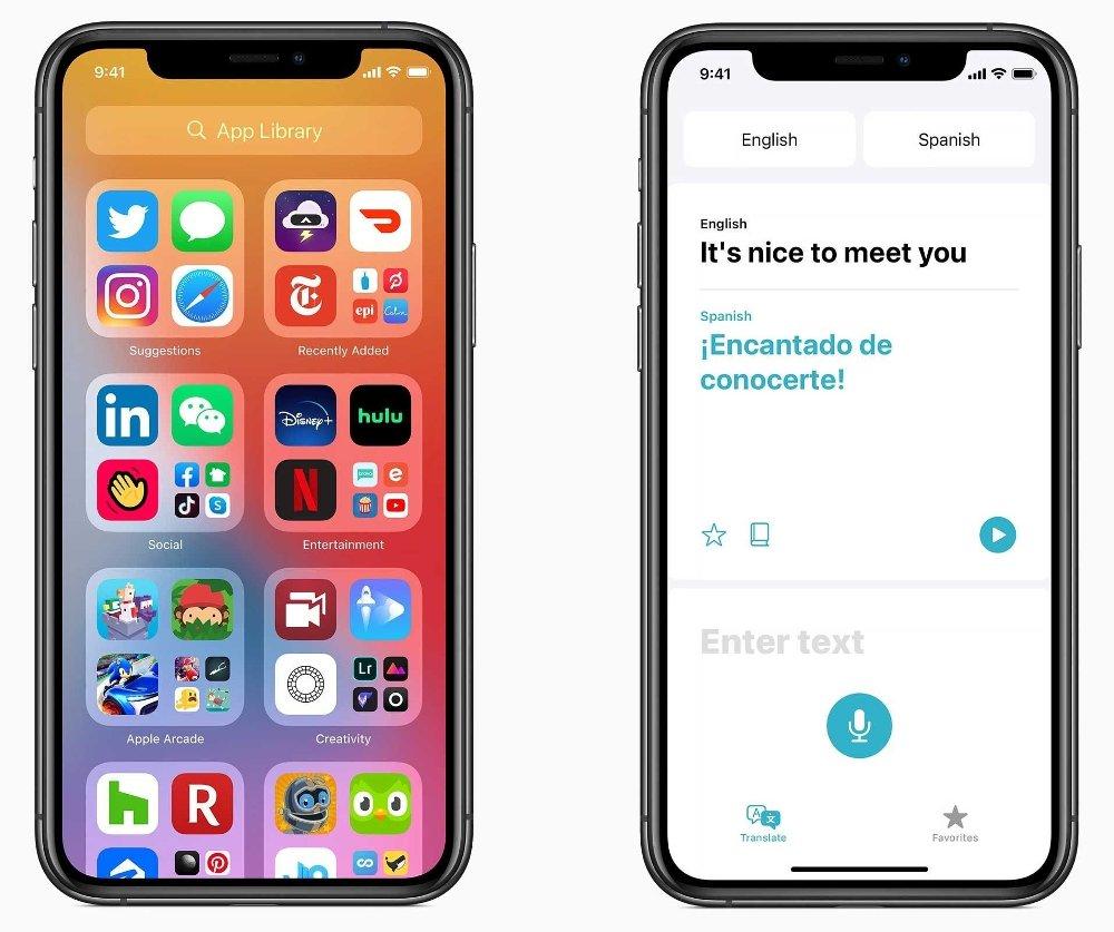 Klikk på bildet for å forstørre. - Oversett er laget for å være den beste og enkleste appen for å oversette samtaler og tilbyr rask og naturlig oversettelse av tale og tekst blant 11 forskjellige språk, opplyser Apple.