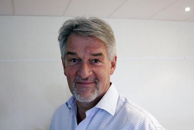 Klikk på bildet for å forstørre. Bydelsdirektør Helge Jagmann på Olavsgård.