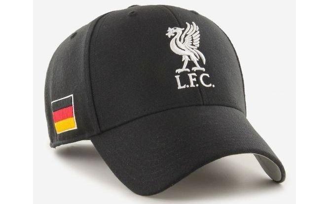 Klikk på bildet for å forstørre. 6. Liverpool-caps med tysk flagg