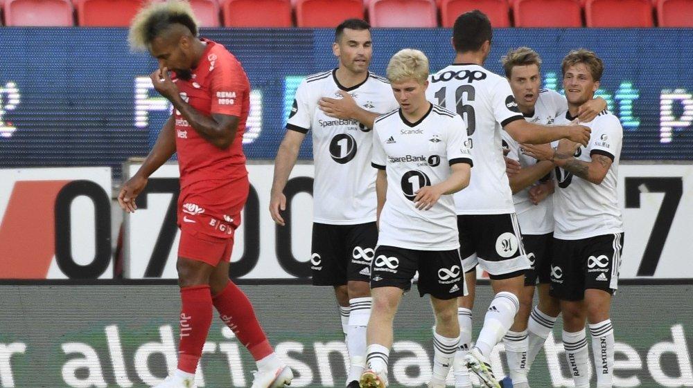 Klikk på bildet for å forstørre. Eliteserien fotball 2020: Brann - Rosenborg. Bergen 20200628. Eliteseriekampen i fotball mellom Brann og Rosenborg på Brann Stadion.