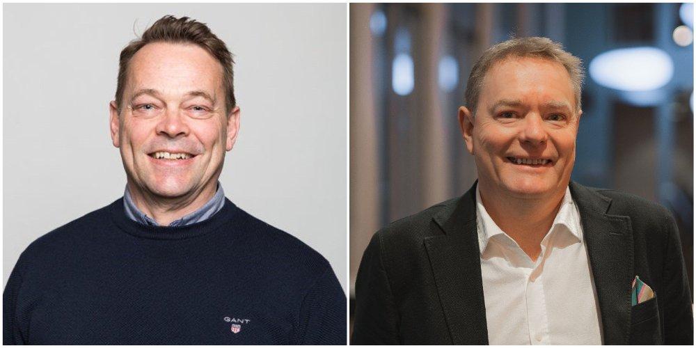 Klikk på bildet for å forstørre. HØYSKOLELEKTORER: Jan Kåre Baumann og Morten Ågnes foreleser i salg og markedsføring ved Høyskolen Kristiania.