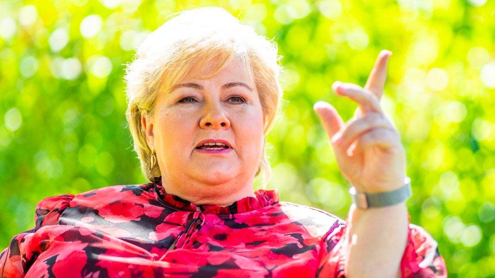 Klikk på bildet for å forstørre. Statsminister Erna Solberg