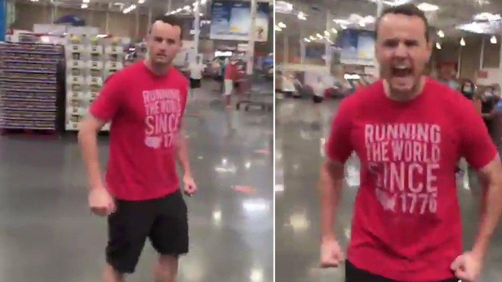 Klikk på bildet for å forstørre. Nå har Florida-mannen fått sparken fra jobben sin etter at videoen gikk viralt.