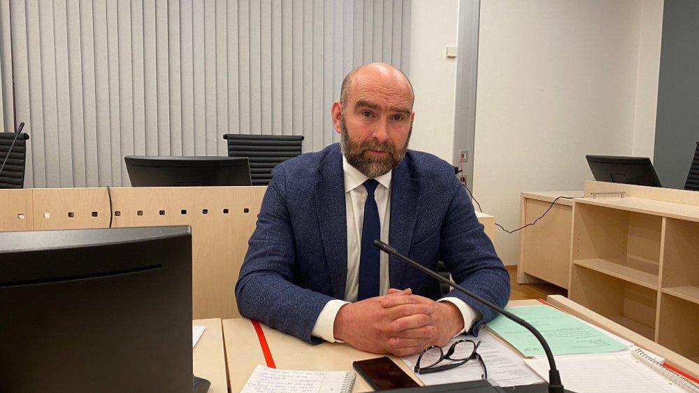 Klikk på bildet for å forstørre. Jens Olav Sæther, fungerende leder i Spesialenheten. Fengsling Eirik Jensen 16.07.20. Andre fengsling.