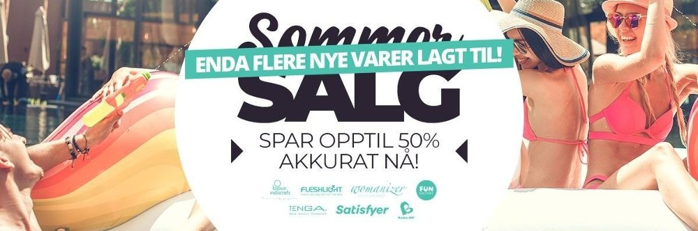 Klikk på bildet for å forstørre. Slik reklamerer Nytelse for sitt sommersalg.
