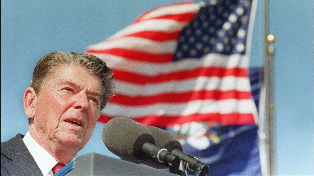 Klikk på bildet for å forstørre. RONALD REAGAN var USAs president fra 1981 til 1989.