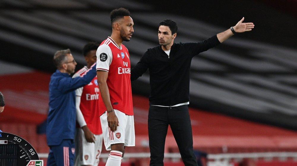 Klikk på bildet for å forstørre. ØNSKER SPISSEN MED VIDERE: Arsenal-manager Mikel Arteta skal være veldig interessert i å beholde Aubameyang.