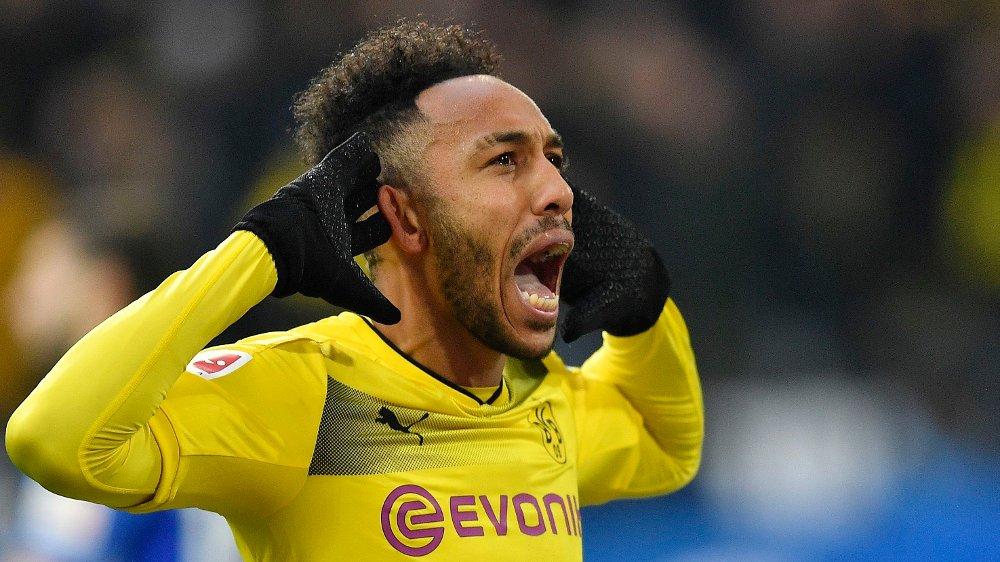 Klikk på bildet for å forstørre. SUKSESS I TYSKLAND: Aubameyang ankom Arsenal etter å ha scoret 141 mål for Borussia Dortmund i løpet av fem sesonger.