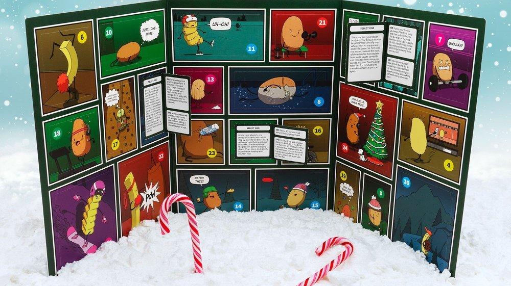 Klikk på bildet for å forstørre. Dette er julekalenderen for sofagrisen. En morsom kalender med oppgaver for den som har litt problemer med å komme seg opp av sofaen.
