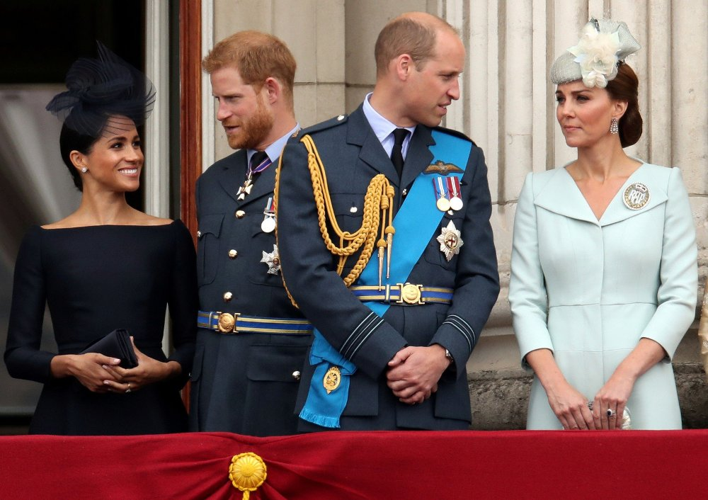 Click on the image to enlarge.  ICE FRONT: Prince Harry and Prince William are said to have not spoken to each other in two months after Prince Harry and Duchess Meghan resigned from their royal duties.