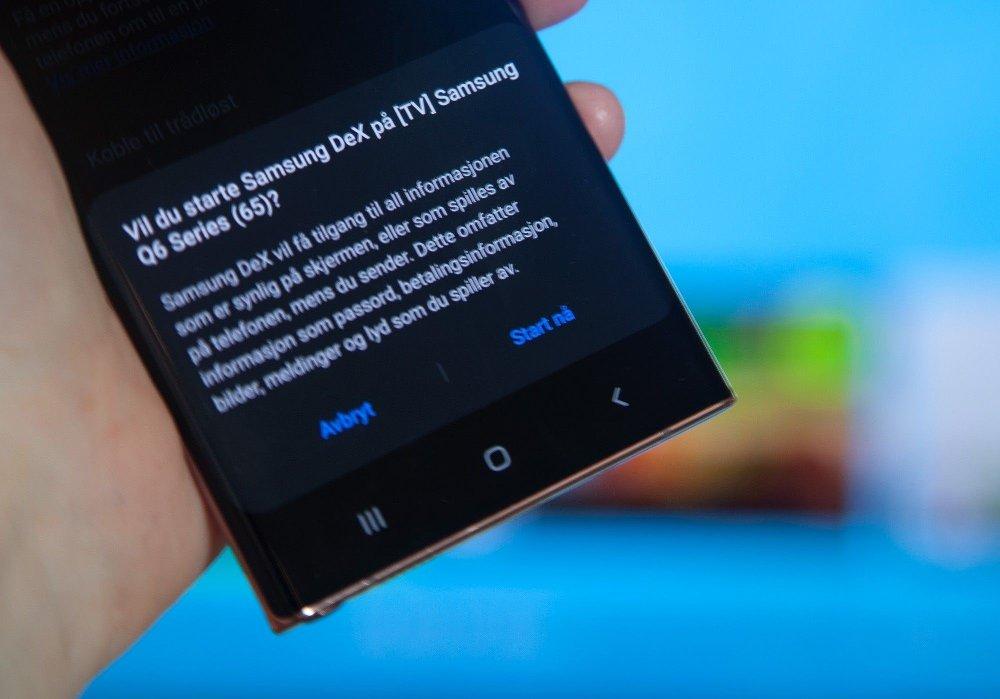 Klikk på bildet for å forstørre. Samsung Galaxy Note20 Ultra