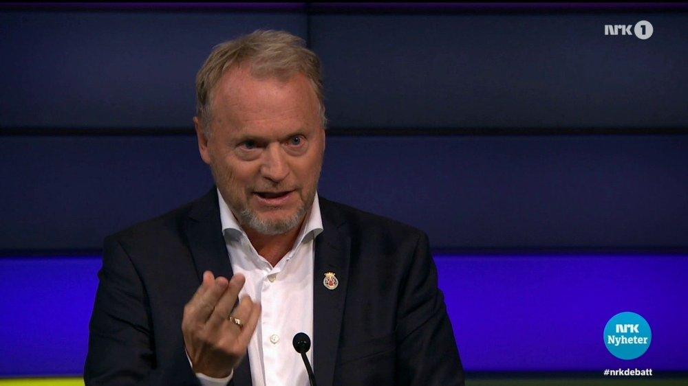 Klikk på bildet for å forstørre. Raymond Johansen under Debatten på NRK 1. september.