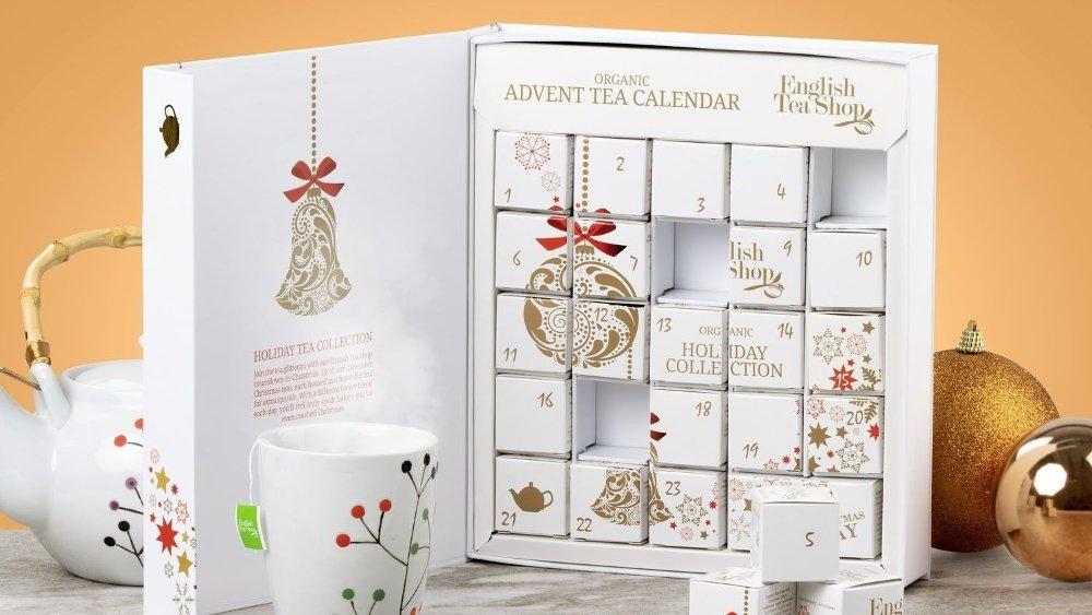 Klikk på bildet for å forstørre. English tea shop er en kalender med 24 teposer.