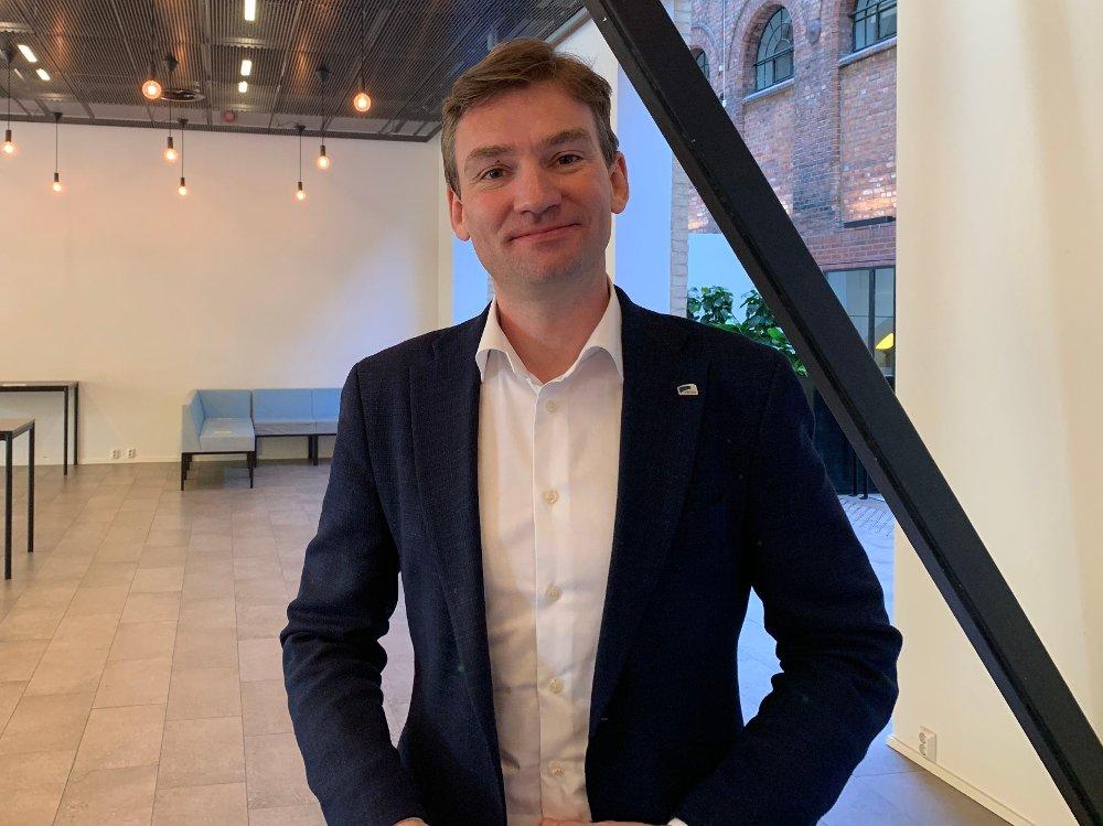 Klikk på bildet for å forstørre. Henrik Asheim lanserer Høyres nye partiprogram 2021-2025.