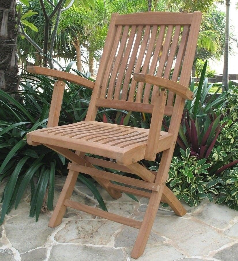Klikk på bildet for å forstørre. Sammenleggbar stol i teak fra Stalbo – spar 930 kroner