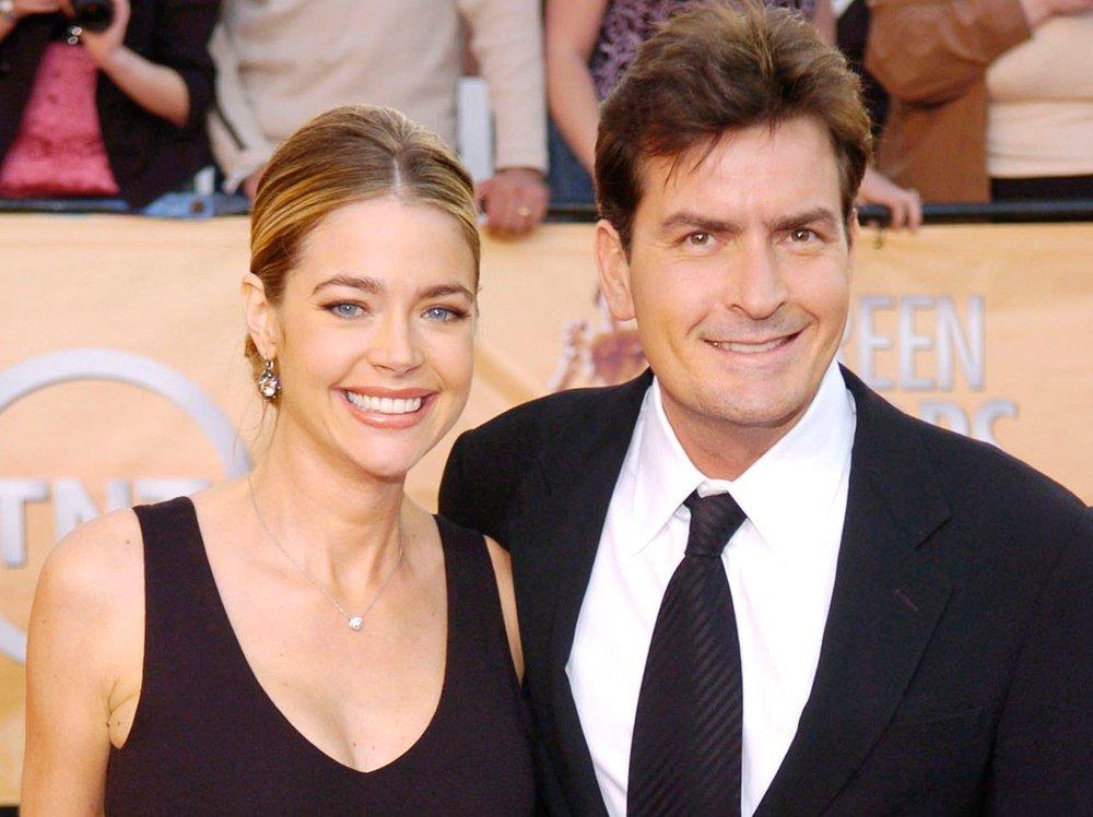 Klikk på bildet for å forstørre. Her er Charlie Sheen sammen med ekskona Denise Richards i 2005.