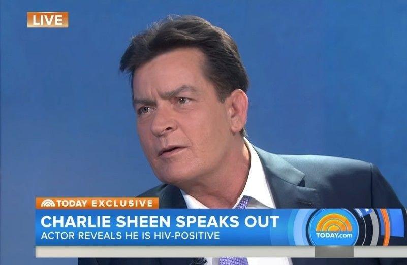 Klikk på bildet for å forstørre. Charlie Sheen sto frem og fortalte om sin sykdom i 2015, fire år etter at han fikk hiv-diagnosen.
