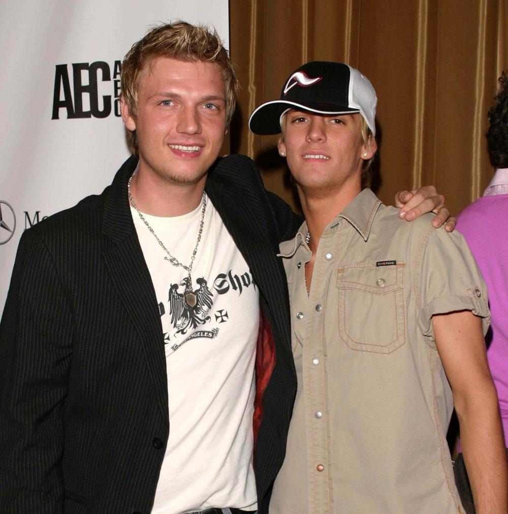 Klikk på bildet for å forstørre. BRØDRE: Aaron Carter er lillebroren til Backstreet Boys-stjernen Nick Carter. Her er brødrene avbildet i 2005. De har tidligere hatt en svært offentlig krangel, og skal ikke ha kontakt i dag.