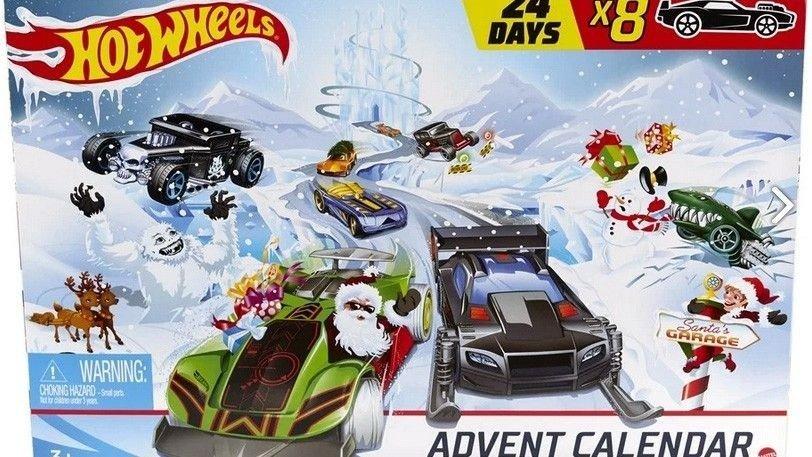 Klikk på bildet for å forstørre. Hot Wheels er en kalender som mange vil elske.