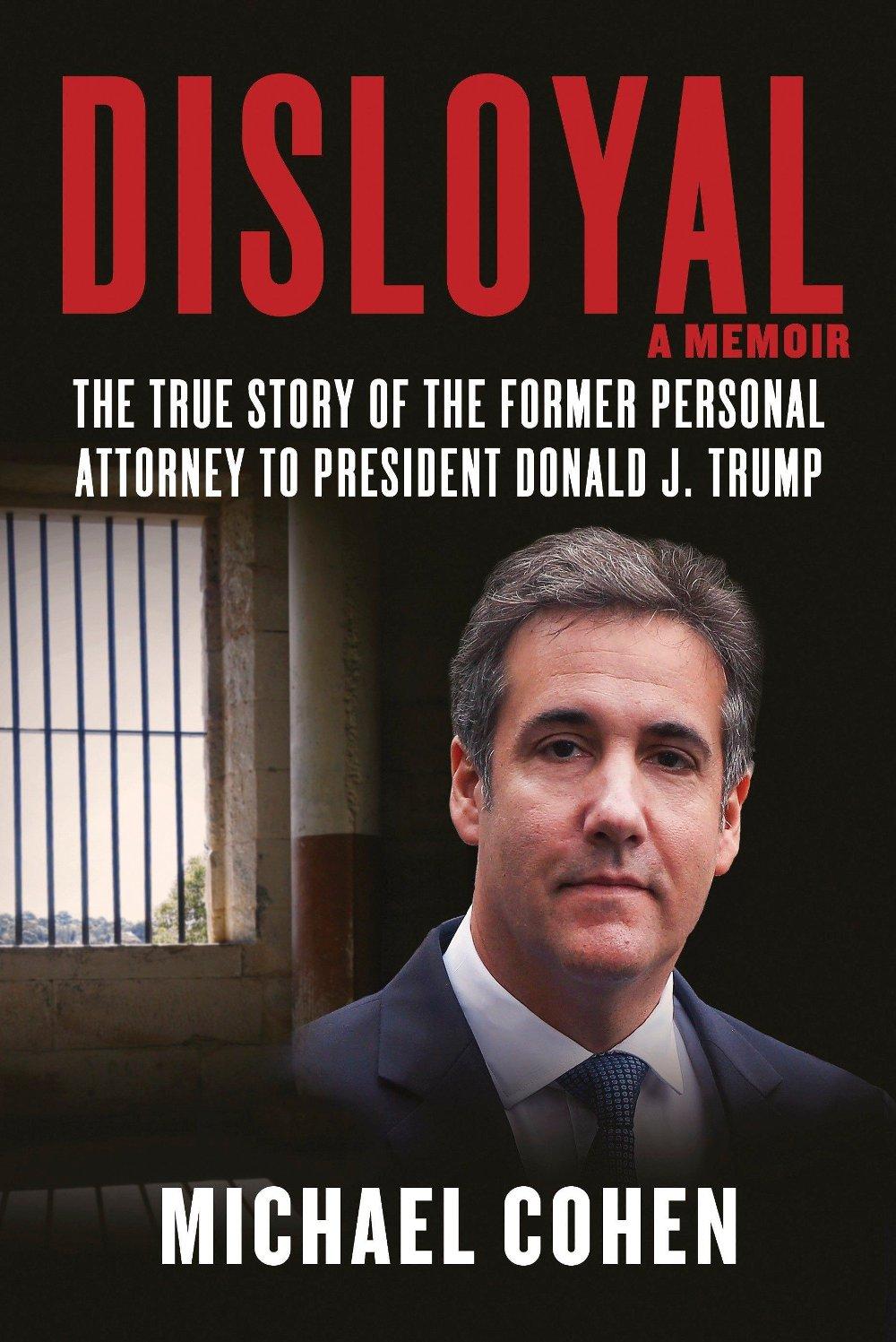 Klikk på bildet for å forstørre. Omslaget til Cohens bok om president Donald Trump.