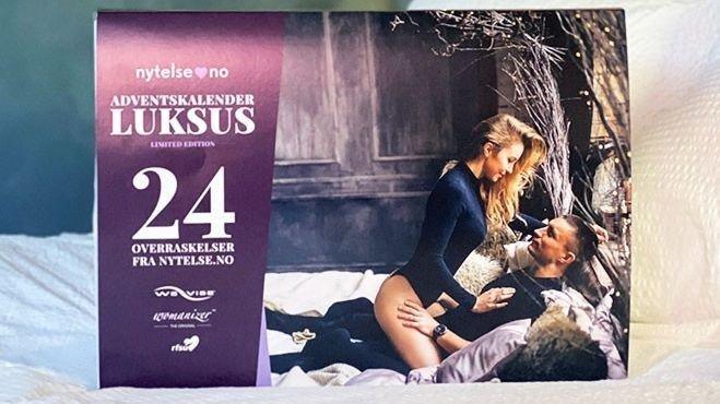 Klikk på bildet for å forstørre. Luksus adventskalender med 24 overraskelser.
