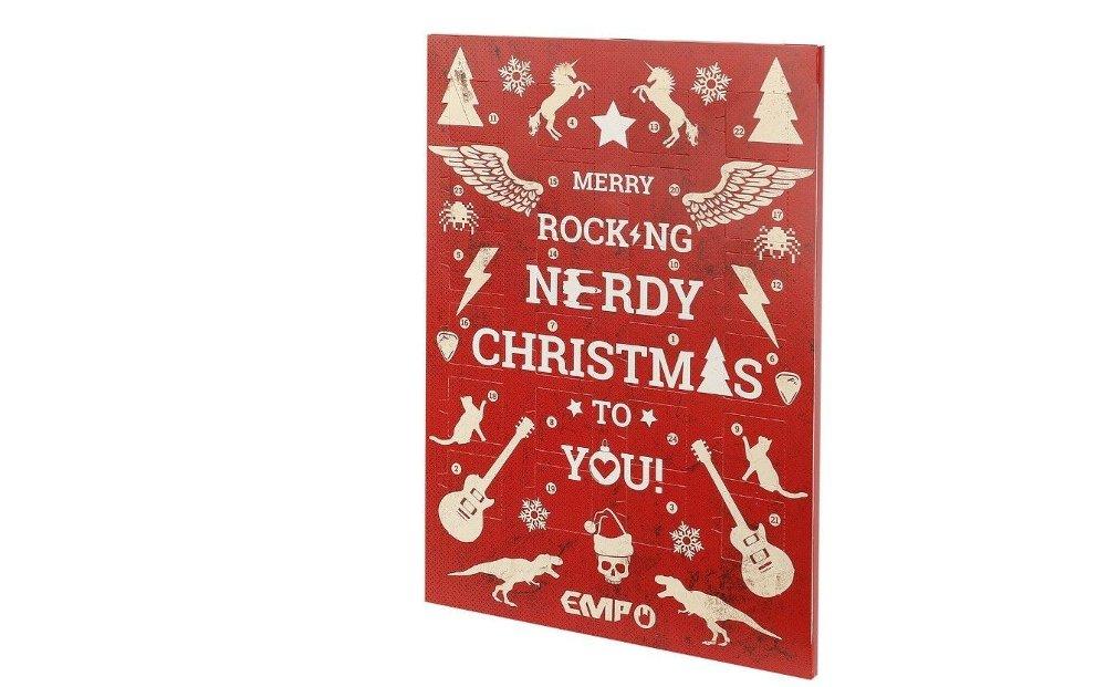 Klikk på bildet for å forstørre. Rockekalenderen har sjokolade. En klassiker med rockevri.