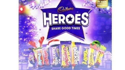 Klikk på bildet for å forstørre. Cadbury Heroes har engelske sjokolader du ikke vanligvis får i Norge.