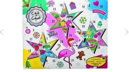 Klikk på bildet for å forstørre. Chit Chat kosmetikk-kalender er en super kalender for de unge som liker sminke og kosmetikk.