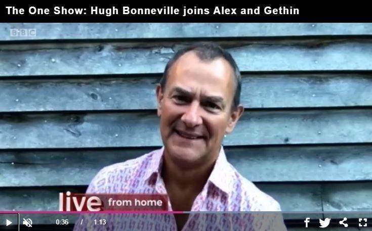 Klikk på bildet for å forstørre. UGJENKJENNELIG: Det var nesten ingen som kjente igjen Hugh Bonneville da han dukket opp i et videointervju med BBC tidligere i sommer.