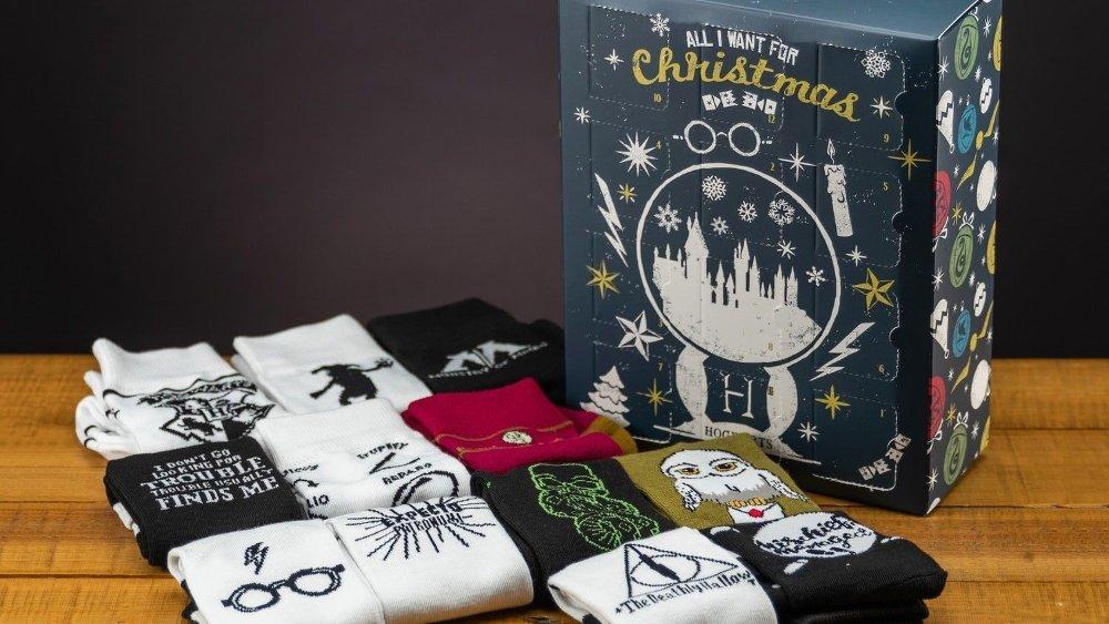 Klikk på bildet for å forstørre. Harry Potter - kalenderen med sokker vil glede mange.