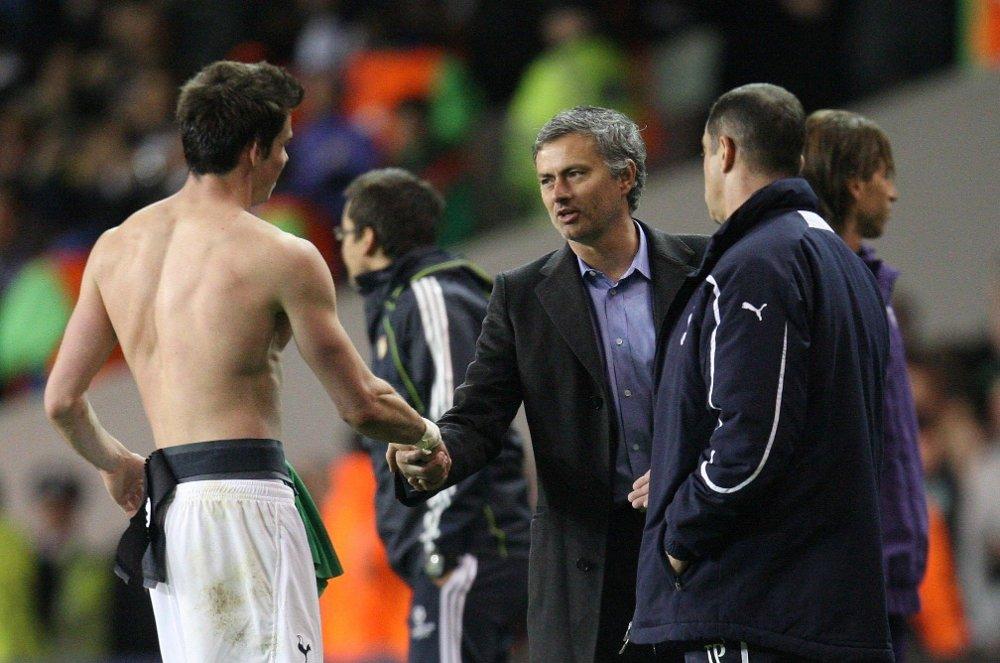 Klikk på bildet for å forstørre. BEUNDRER: José Mourinho har aldri lagt skjul på at ha har sansen for Gareth Bale.