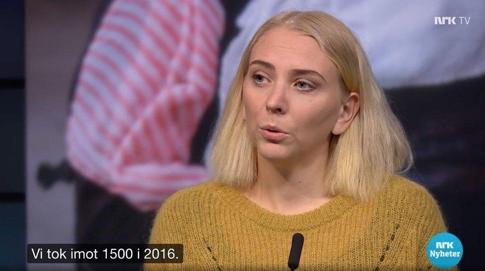 Klikk på bildet for å forstørre. ARTIST OG AKTIVIST: Marthe Valle mener at Norge bør hente 1500 av dem som tidligere bodde i Moria-leiren.