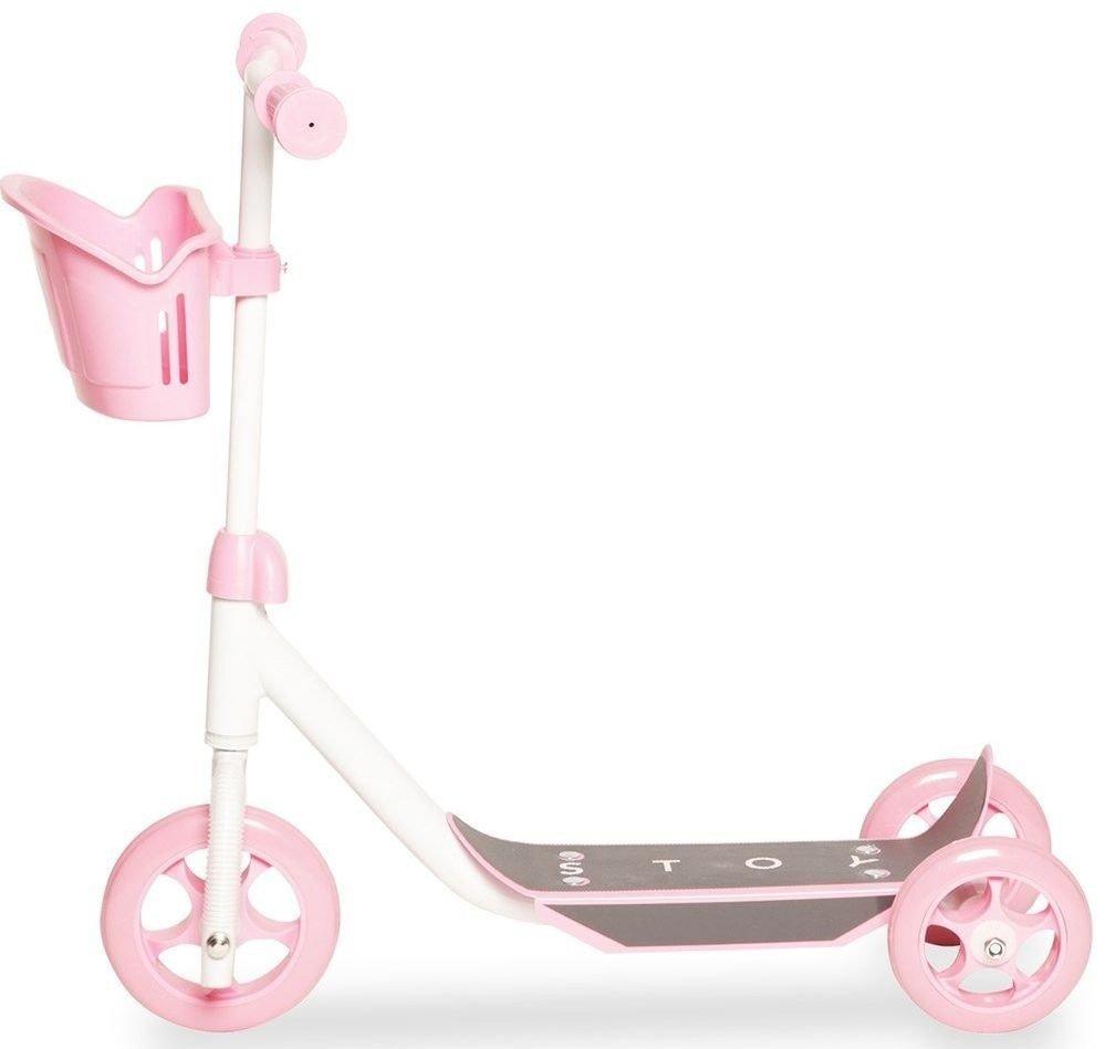 Klikk på bildet for å forstørre. Rosa sparkesykkel fra Stoy
